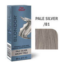 Blondor Permanent Liquid Hair Toner /81 Pale Silver